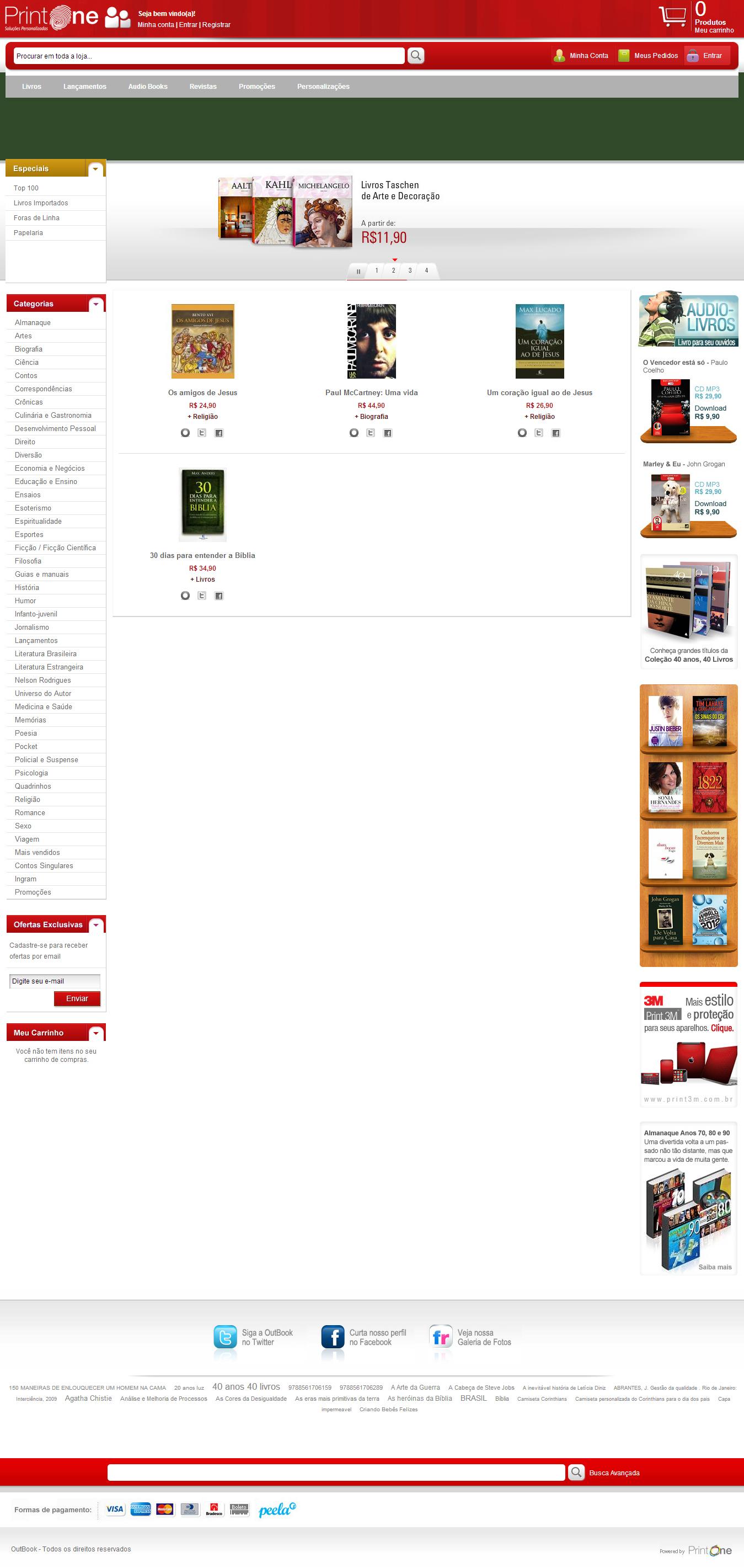 Print One - Modelo de Loja de Livros cb16c47ff3